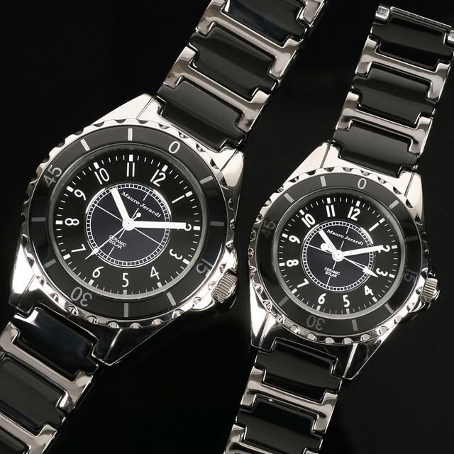 メンズ レディース ペア 腕時計 マウロジェラルディ ウォッチ ソーラー 女性 男性 電池交換不要 大人 エレガント ラッピング無料 セクシー 高級感 記念日 カップル おそろい ペア かっこいい モテ おしゃれ mj041-1-mj042-1