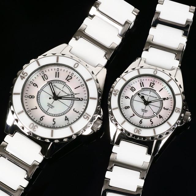 メンズ レディース ペア 腕時計 マウロジェラルディ ウォッチ ソーラー 女性 男性 電池交換不要 大人 エレガント ラッピング無料 セクシー 高級感 記念日 カップル おそろい ペア かっこいい モテ おしゃれ mj041-2-mj042-2
