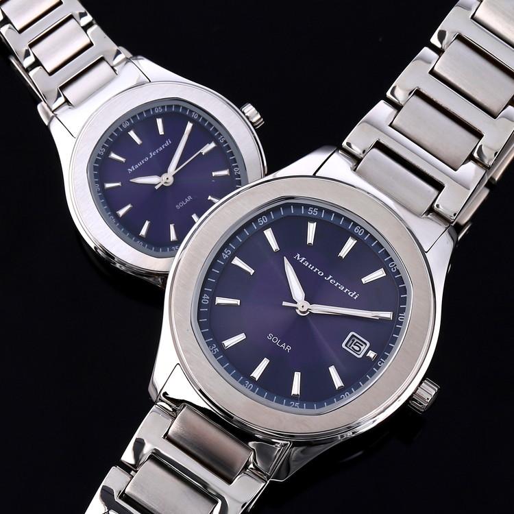 メンズ レディース ペア 腕時計 マウロジェラルディ ウォッチ ソーラー 女性 男性 電池交換不要 大人 エレガント ラッピング無料 セクシー 高級感 記念日 カップル おそろい ペア かっこいい モテ おしゃれ mj053-2-mj054-2