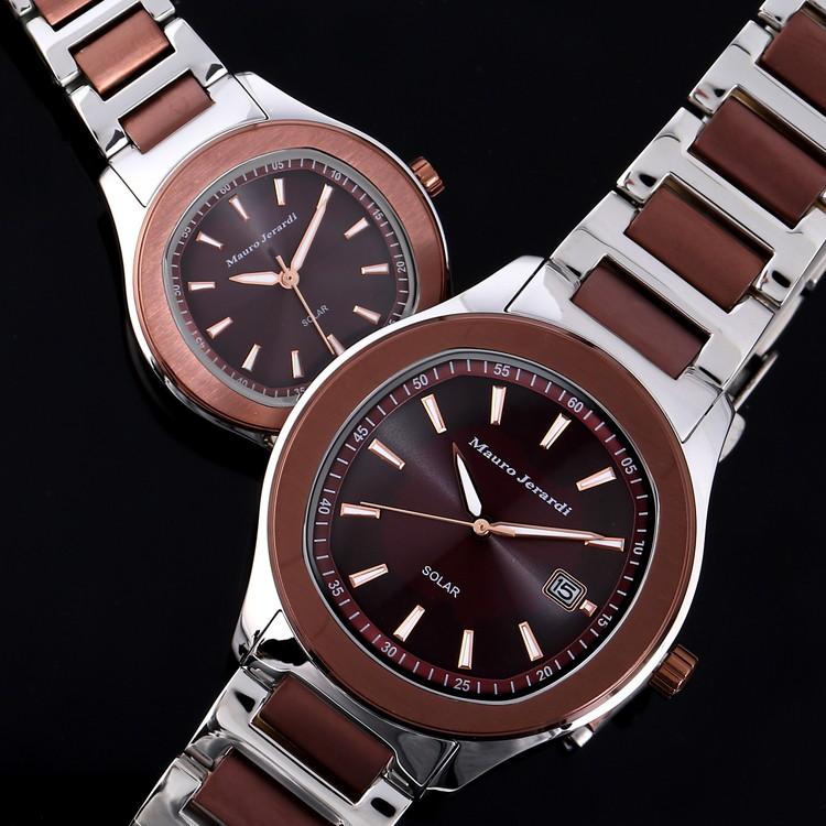 b2e35fcdfb メンズ レディース ペア 腕時計 マウロジェラルディ ウォッチ ソーラー 女性 男性 電池交換不要 大人 エレガント