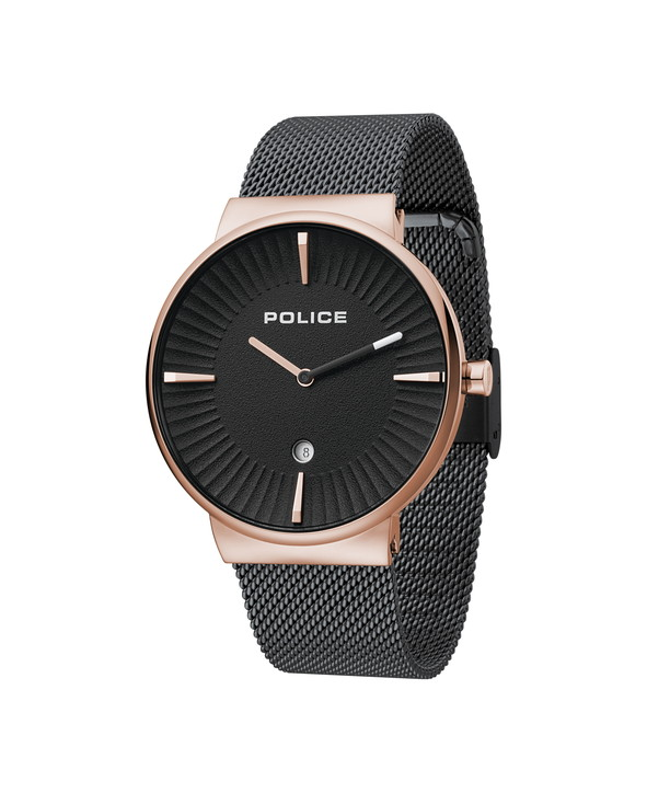 POLICE ポリス 腕時計 メンズ メタルベルト メッシュベルト ペアウォッチ ブラック/ローズゴールド 15436JSR/61MMU オシャレ ギフト 人気 プレゼント 勝負 イケメン ちょいワル ちょい悪 かっこいい ホスト ラグジュアリ ラッピング無料可能