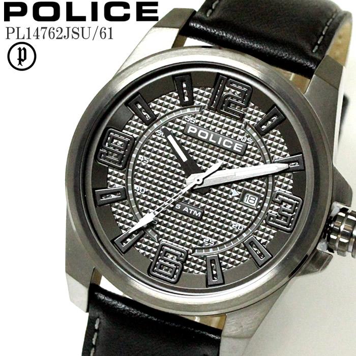 POLICE ポリス 腕時計 ウォッチ メンズ フォーカス グレー 新作アイテム毎日更新 ブラック レザー PL14762JSU-61 ファッション雑誌 ラッピング無料可能 お祝い 誕生日 限定タイムセール おしゃれ ギフト 人気 かっこいい はぴあん プレゼント ランキングおすすめ大人