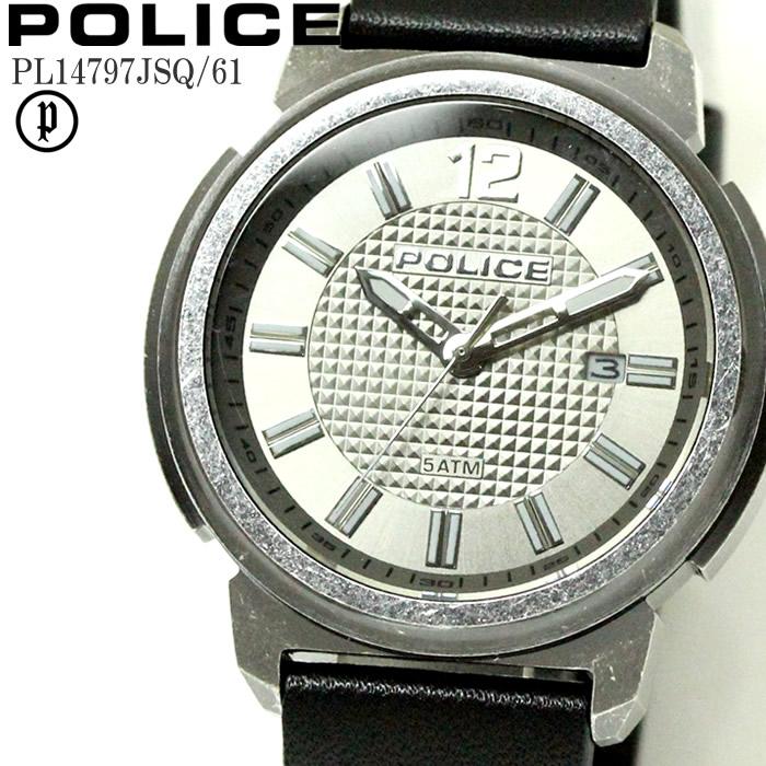 POLICE ポリス 腕時計 ウォッチ メンズ トランプ アナログ レザー PL14797JSQ-61 ファッション雑誌 おしゃれ プレゼント ギフト かっこいい ラッピング無料可能 誕生日 人気 お祝い ランキングおすすめ大人【POLICE】 【腕時計】