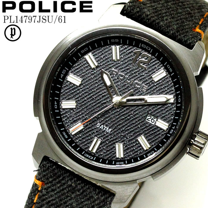 POLICE ポリス 腕時計 ウォッチ メンズ トランプ レザー ダークグレー PL14797JSU-6 ファッション雑誌 おしゃれ プレゼント ギフト かっこいい ラッピング無料可能 誕生日 人気 お祝い ランキングおすすめ大人【POLICE】 【腕時計】