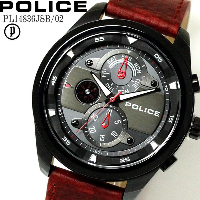 POLICE ポリス 腕時計 ウォッチ メンズ マルチファンクション PL14836JSB-02 ファッション雑誌 おしゃれ プレゼント ギフト かっこいい ラッピング無料可能 誕生日 人気 お祝い ランキングおすすめ大人【POLICE】 【腕時計】
