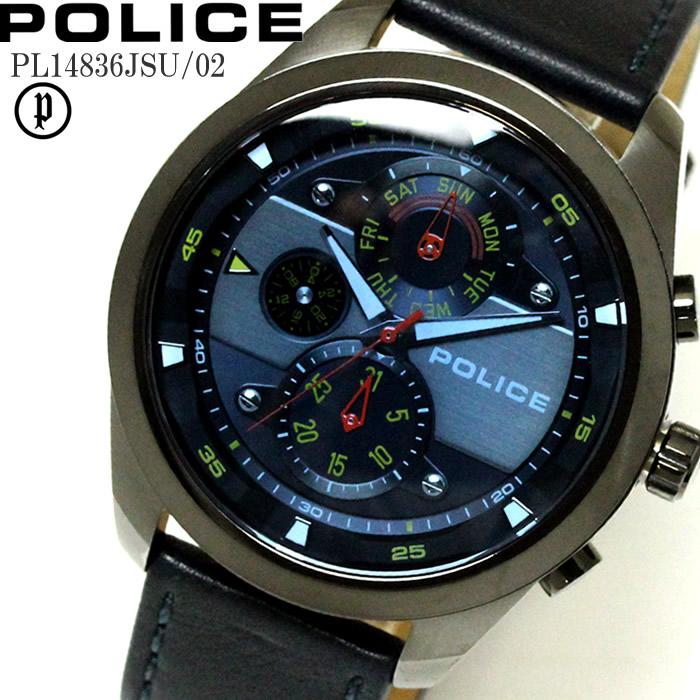POLICE ポリス 腕時計 ウォッチ マルチファンクション メンズ レザー PL14836JSU-02 ファッション雑誌 おしゃれ プレゼント ギフト かっこいい ラッピング無料可能 誕生日 人気 お祝い ランキングおすすめ大人【POLICE】 【腕時計】