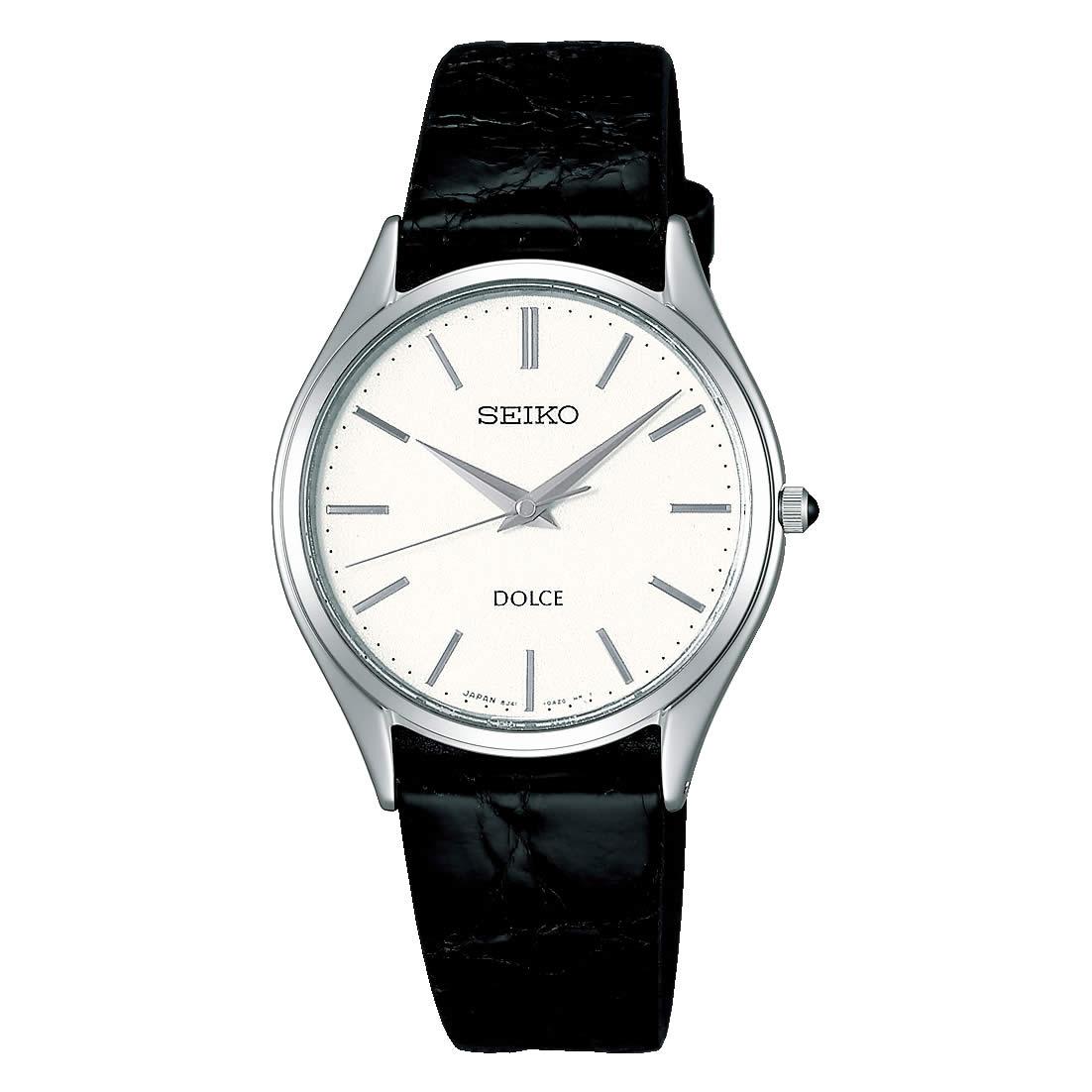 【送料無料】【国内正規品】セイコー ドルチェ SEIKO DOLCE 腕時計 革ベルト SACM171 メンズ 時計 オフィス ペアウォッチ ペア腕時計 レザー ワニ革 ビジネス シンプル 人気 うでどけい とけい WATCH 時計【取り寄せ】