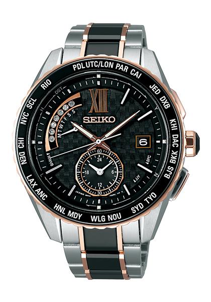 【送料無料】【国内正規品】ブライツ セイコー 腕時計 ソーラー電波 ダイヤモンド メンズ SAGA174 SEIKO BRIGHTZ エグゼクティブライン 電波 ソーラー ブラック ローズゴールド ビジネス うでどけい とけい WATCH 時計【取り寄せ】