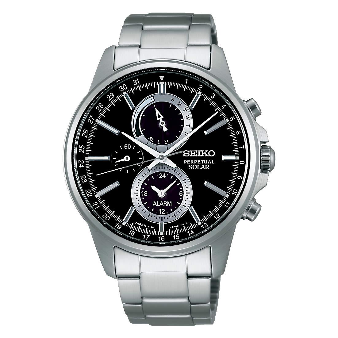 【送料無料】【国内正規品】セイコー スピリット SEIKO SPIRIT 腕時計 ソーラー クロノグラフ メンズ SBPJ005 100M 10気圧防水 ビジネス シンプル ソーラー腕時計 きれいめ 人気 うでどけい とけい WATCH 時計【取り寄せ】