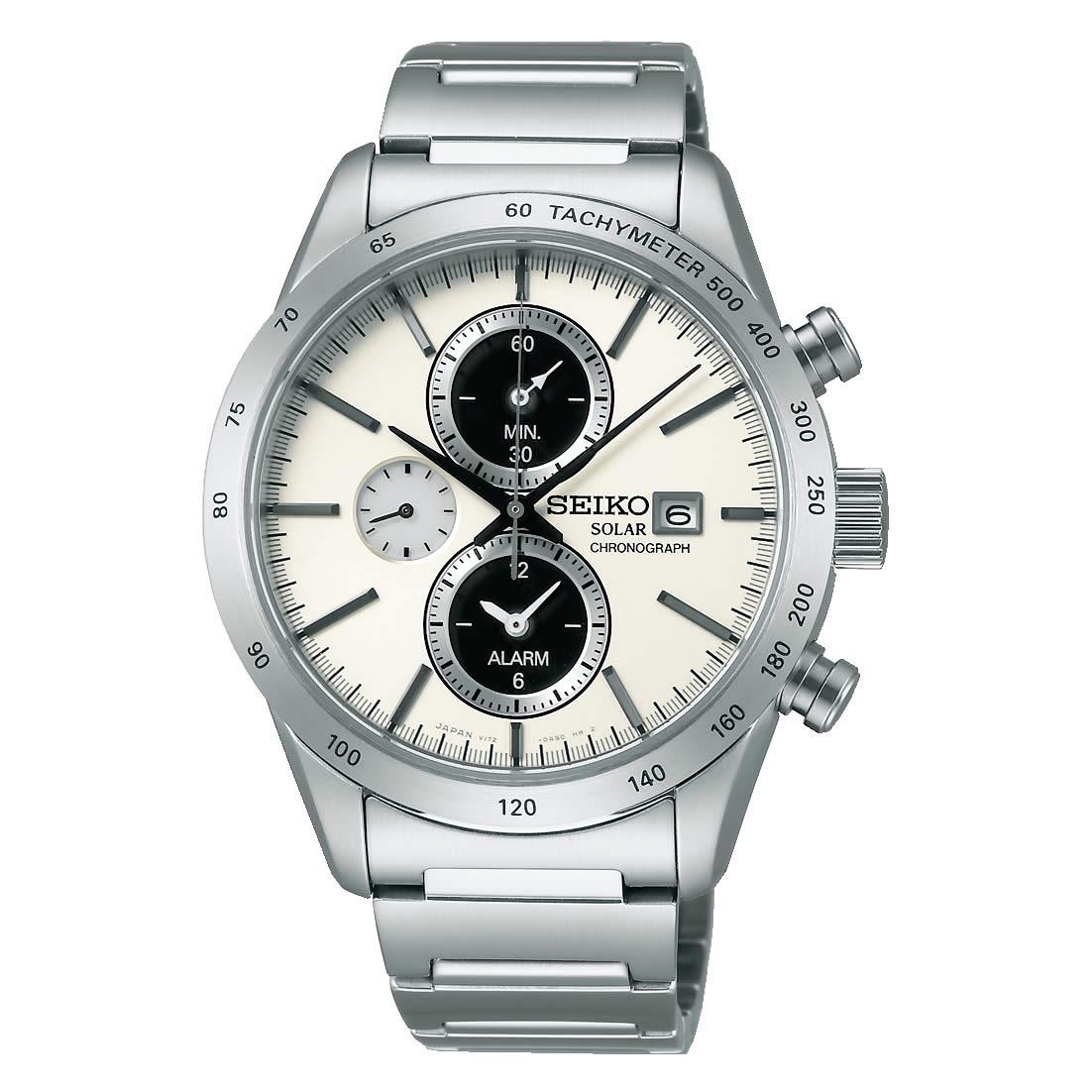 【送料無料】【国内正規品】セイコー スピリット SEIKO SPIRIT 腕時計 ソーラー クロノグラフ メンズ SBPY113 100M 10気圧防水 ビジネス シンプル ソーラー腕時計 きれいめ 人気 うでどけい とけい WATCH 時計【取り寄せ】