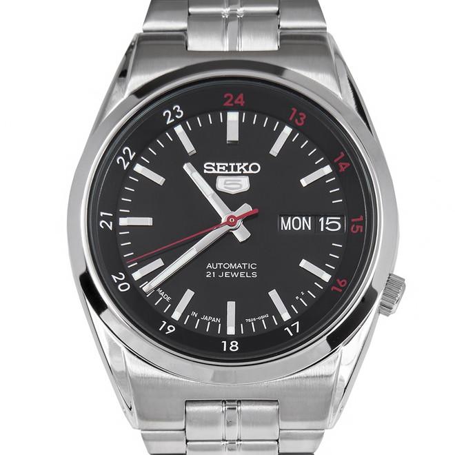 SEIKO 5 セイコー5 逆輸入 日本製 自動巻き メンズ 腕時計 SNK571J1 ブラック×シルバー 電池交換不要 プレゼント バレンタイン ラッピング無料 おすすめ ランキング おしゃれ エレガント ビジネス 【メンズ】【腕時計】