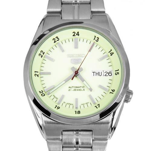SEIKO 5 セイコー5 逆輸入 日本製 自動巻き メンズ 腕時計 SNK573J1 ライトグリーン×シルバー 電池交換不要 プレゼント バレンタイン ラッピング無料 おすすめ ランキング おしゃれ エレガント ビジネス 【メンズ】【腕時計】