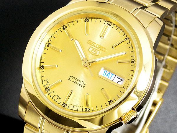 SEIKO 5 セイコー5 逆輸入 日本製 自動巻き メンズ 腕時計 SNKE56J1 ゴールド 電池交換不要 プレゼント バレンタインデー ラッピング無料 おすすめ ランキング ブランド おしゃれ かっこいい 高級 モテ 【腕時計】 【セイコー】 【メンズ】
