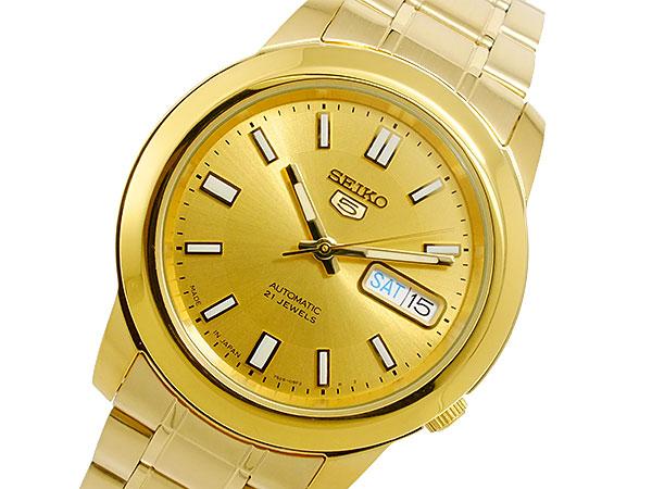 かっこいい セイコー5 ファイブ 逆輸入 自動巻き メンズ 腕時計 SNKK20J1 ゴールド 電池交換不要 プレゼント おしゃれ モテ ラッピング無料 おすすめ ランキング ブランド おしゃれ かっこいい 高級 モテ 【腕時計】 【セイコー】 【メンズ】