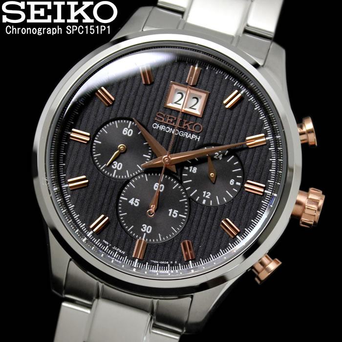 【送料無料】SEIKO セイコー クロノグラフ 100M防水 メンズ 腕時計 SPC151P1 アナログ ブランド 海外モデル スモールセコンド センタークロノ アナログ プレゼント ギフト 人気 特価 激安 WATCH うでどけい【腕時計】【セイコー/SEIKO】