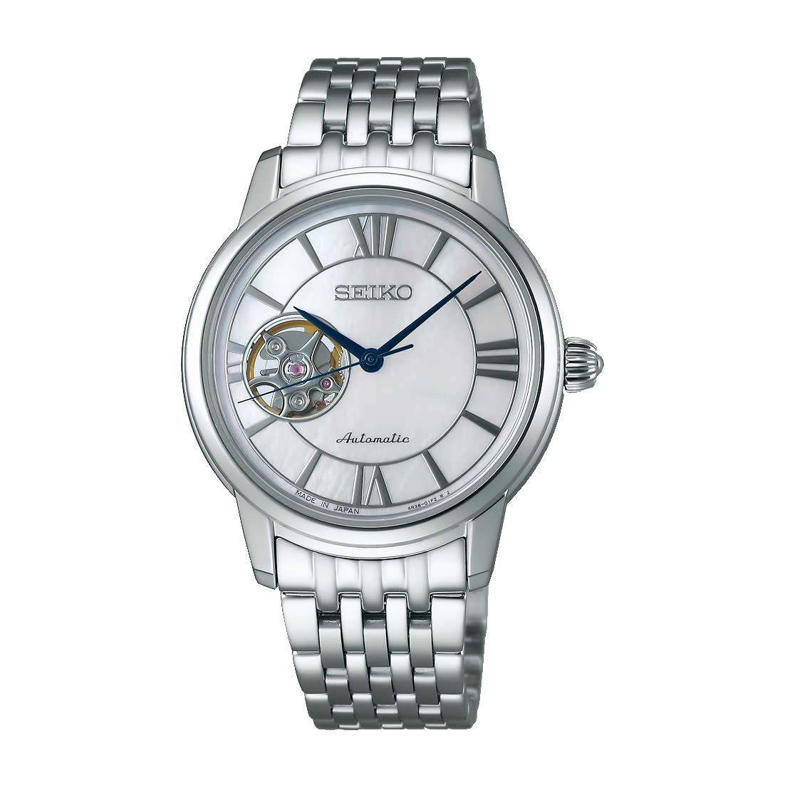 【送料無料】【国内正規品】セイコー プレサージュ SEIKO PRESAGE 腕時計 レディース 自動巻き SRRY021 クラシックコレクション 時計 ブランド 白蝶貝 メカニカル 人気 激安 うでどけい とけい WATCH 時計【取り寄せ】