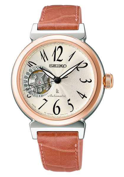 【送料無料】【取り寄せ】ルキア セイコー 腕時計 メカニカル 自動巻 レディース LUKIA SEIKO SSVM008 機械式 ブランド 革ベルト レザー スワロフスキー スケルトン シルバー ブラウン ローズゴールド 時計 人気 プレゼント うでどけい【国内正規品】