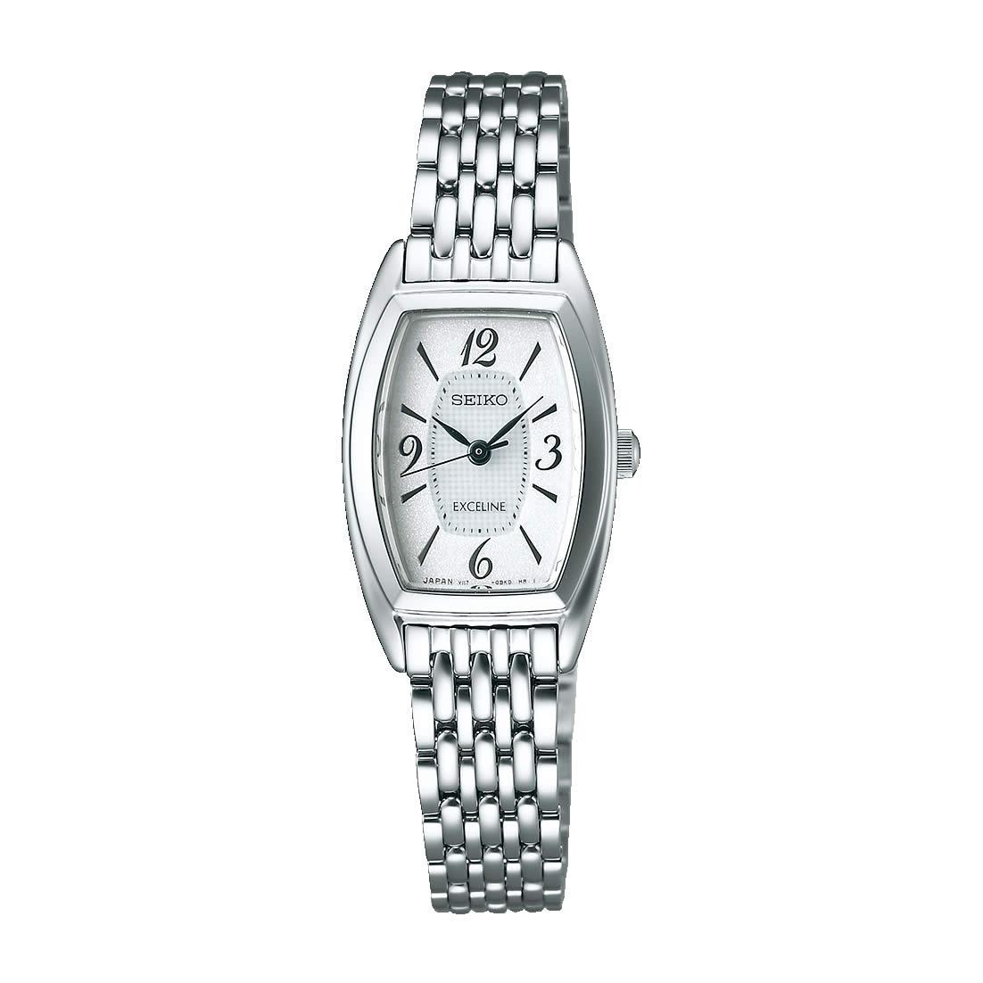 【送料無料】【国内正規品】セイコー エクセリーヌ SEIKO EXCELINE 腕時計 ソーラー SWCQ063 レディース 時計 100M 10気圧防水 オフィス エレガント トノー型 細身 華奢 人気 うでどけい とけい WATCH 時計【取り寄せ】