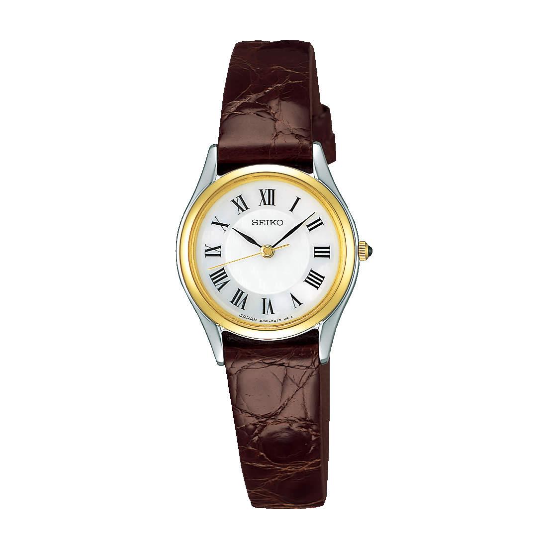 【送料無料】【国内正規品】セイコー エクセリーヌ SEIKO EXCELINE 腕時計 革ベルト SWDL162 白蝶貝 レディース 時計 オフィス ペアウォッチ ペア腕時計 レザー ワニ革 ビジネス シンプル 人気 うでどけい とけい WATCH 時計【取り寄せ】