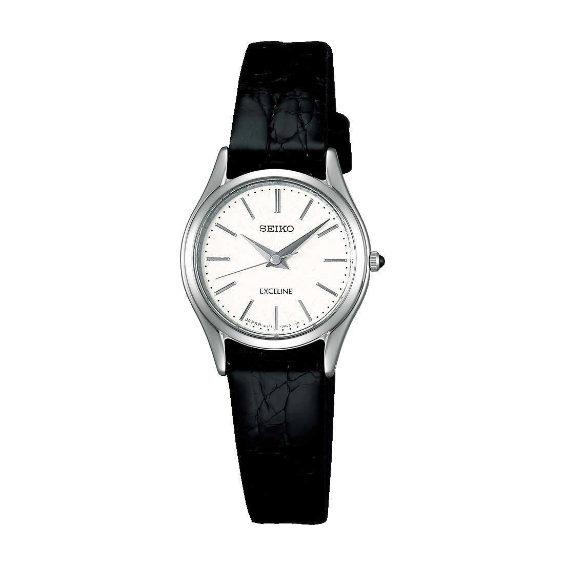 【送料無料】【国内正規品】セイコー エクセリーヌ SEIKO EXCELINE 腕時計 革ベルト SWDL209 レディース 時計 オフィス ペアウォッチ ペア腕時計 レザー ワニ革 ビジネス シンプル 人気 うでどけい とけい WATCH 時計【取り寄せ】