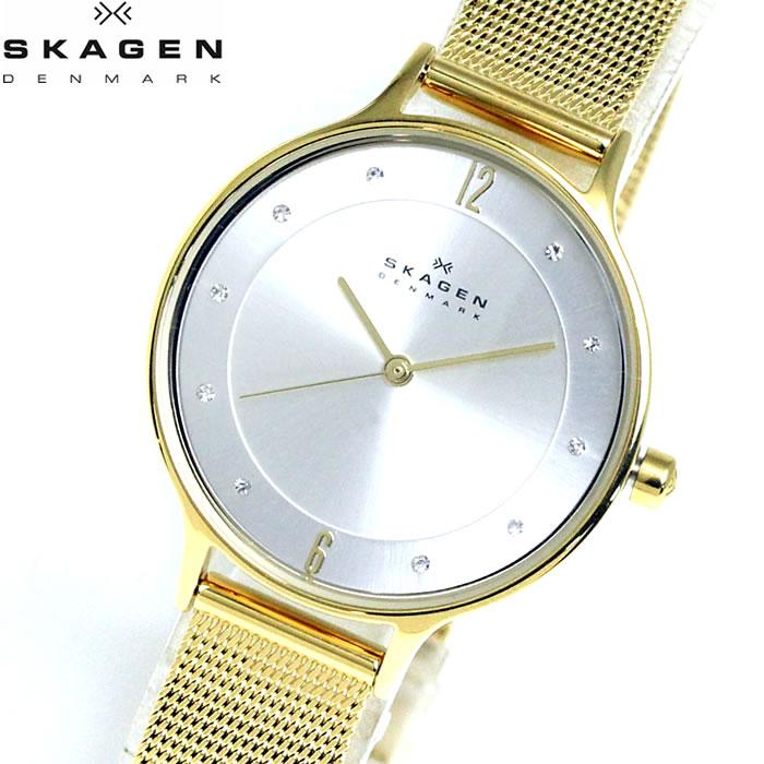 【SKAGEN】 スカーゲン 腕時計 レディース メッシュベルト 時計 ゴールド SKW2150 プレゼント ラッピング無料 ホワイトデー 誕生日 ブランド 時計 激安 かわいい 大人 上品 オフィス 愛され SNS インスタ