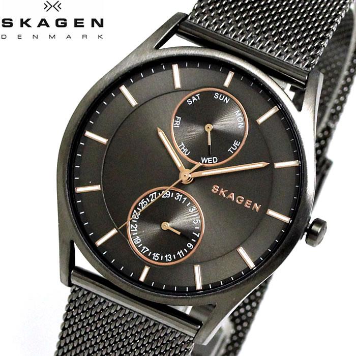 【SKAGEN】 スカーゲン 腕時計 メンズ ホルスト マルチファンクション グレー SKW6180 watch 時計 プレゼント ラッピング無料 バレンタイン 誕生日 ブランド 時計 激安 かっこいい モテ 大人 上品 オフィス SNS インスタ