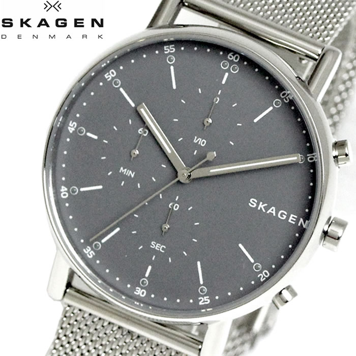 【SKAGEN】 スカーゲン 腕時計 メンズ ウォッチ SIGNATUR シグネチャー シルバー グレー SKW6464 プレゼント ラッピング無料 バレンタイン 誕生日 ブランド 時計 激安 かっこいい 大人 上品 オフィス モテ SNS インスタ