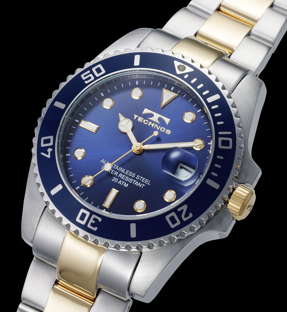 【メーカー正規品】TECHNOS テクノス 腕時計 メンズ 20気圧防水 回転ベゼル メンズ クォーツ T2118TN ブルー プレゼント ラッピング無料 バレンタイン 誕生日 ブランド 激安 かっこいい モテ