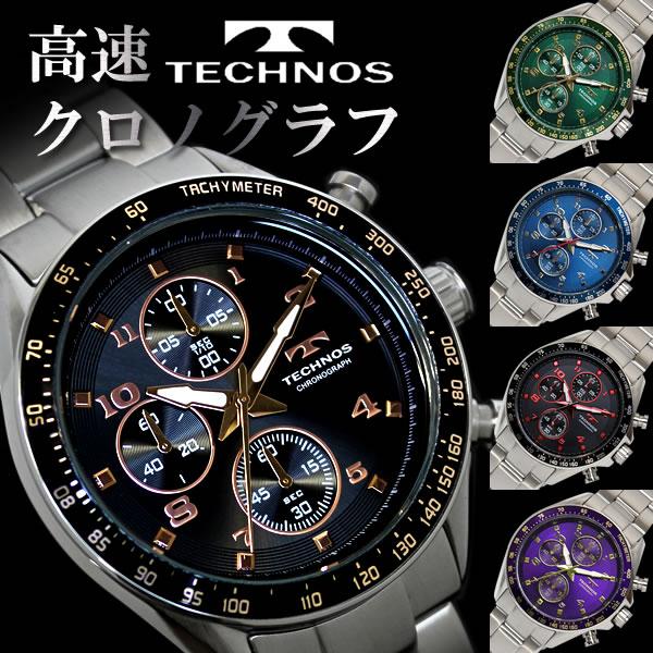 4f105addd82c メンズ腕時計ステンレスクロノグラフブランドTECHNOSテクノスプレゼントギフトT4318スイスブランド人気激安特価