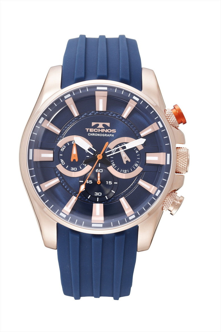【メーカー正規品】TECHNOS テクノス クロノグラフ クォーツ メンズ 腕時計 男性用 T8532PN ブルー プレゼント ラッピング無料 バレンタイン 誕生日 ブランド 激安 かっこいい モテ
