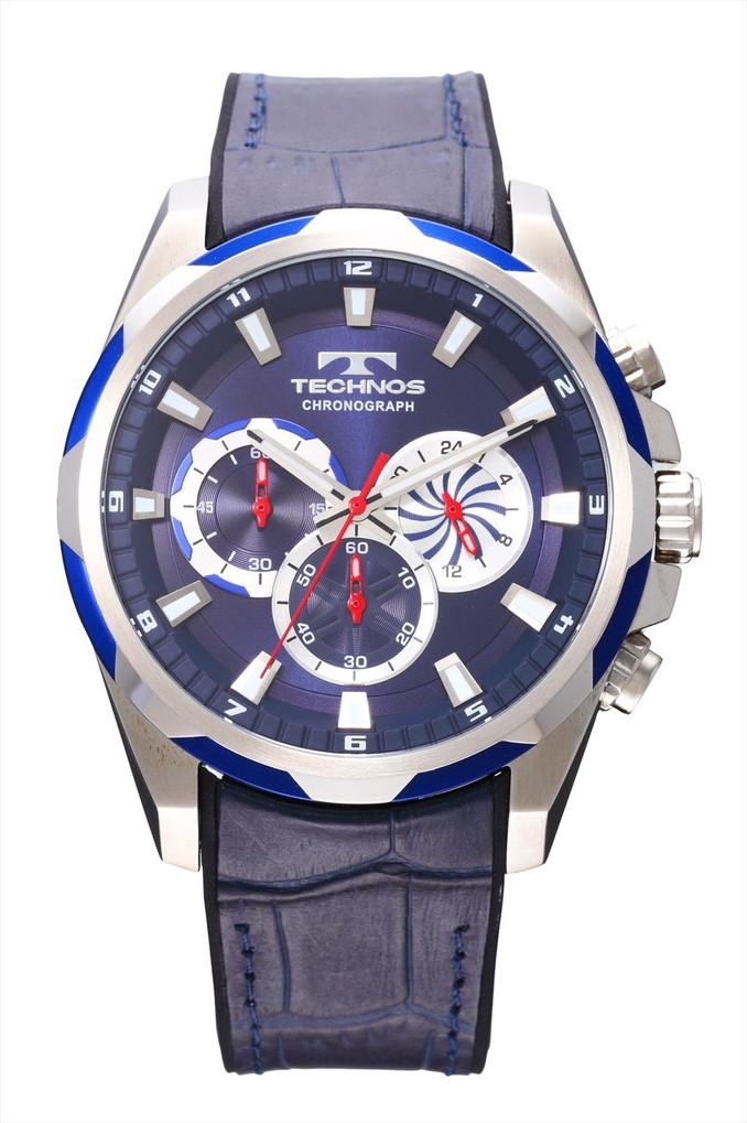 【メーカー正規品】TECHNOS テクノス クロノグラフ クォーツ メンズ 腕時計 男性用 クロノグラフ T8585SN ブルー プレゼント ラッピング無料 バレンタイン 誕生日 ブランド 激安 かっこいい モテ