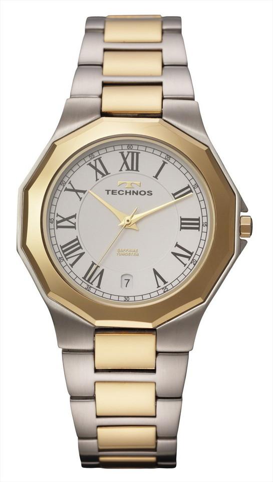 【メーカー正規品】TECHNOS テクノス メンズ 腕時計 タングステンベゼル 3針メンズクォーツ 3気圧防水 T9624TW コンビ プレゼント ラッピング無料 バレンタイン 誕生日 ブランド 激安 かっこいい モテ
