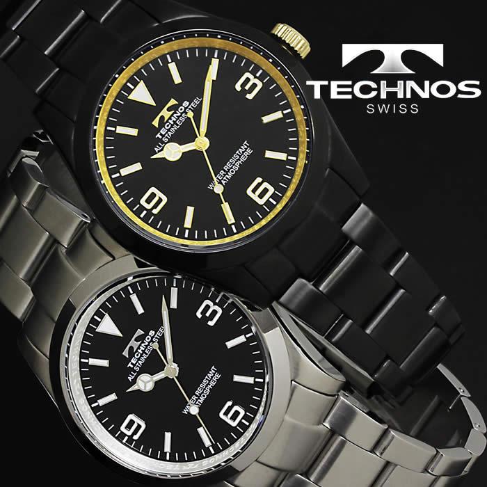 腕時計 メンズ 時計 テクノス 防水 TECHNOS ビジネス TSM208 ブランド 激安 オフィス シンプル かっこいい お洒落 ステンレス 夜光 蓄光 人気 セール プレゼント ギフト とけい うでどけい tokei watch【テクノス/TECHNOS】
