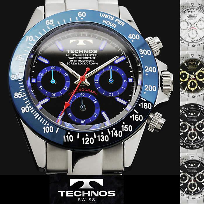 4385d9614cca 腕時計 メンズ 時計 テクノス 防水 TECHNOS クロノグラフ TSM401 ブランド 激安 ビジネスステンレス シンプル オフィス タキメーター  かっこいい 人気 プレゼント
