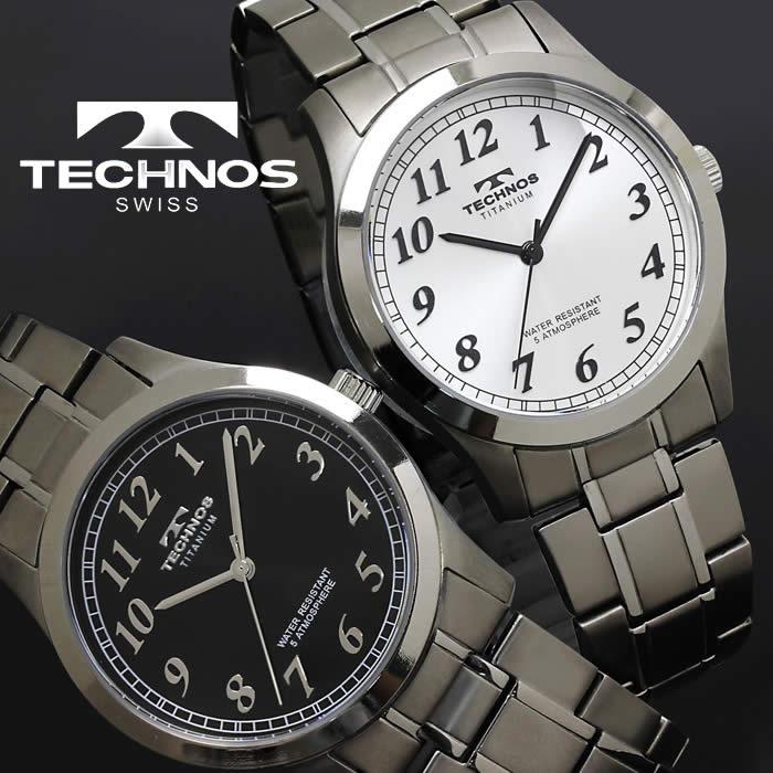 腕時計 メンズ 時計 テクノス 防水 TECHNOS チタン TSM905 ブランド 激安 ビジネス 金属アレルギー対応 シンプル オフィス 軽量 軽い かっこいい 人気 プレゼント ギフト とけい うでどけい tokei watch【テクノス/TECHNOS】