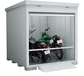 【イナバガレージ】バイク保管庫FXN-2226HY●ハイルーフ■多雪地型