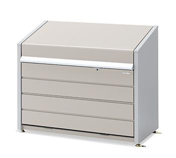【イナバ物置】ダストボックスミニ DBN-126Pパネル床タイプ【ゴミ保管庫】【45Lゴミ袋×11袋相当】【屋外】
