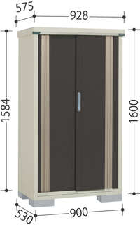 【タクボ物置】グランプレステージM-95BT■たて置きタイプ(ネット棚)