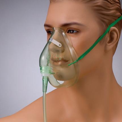酸素フェイスマスクS(スタンダードコネクタ) 成人用 NK-30105 10個入り