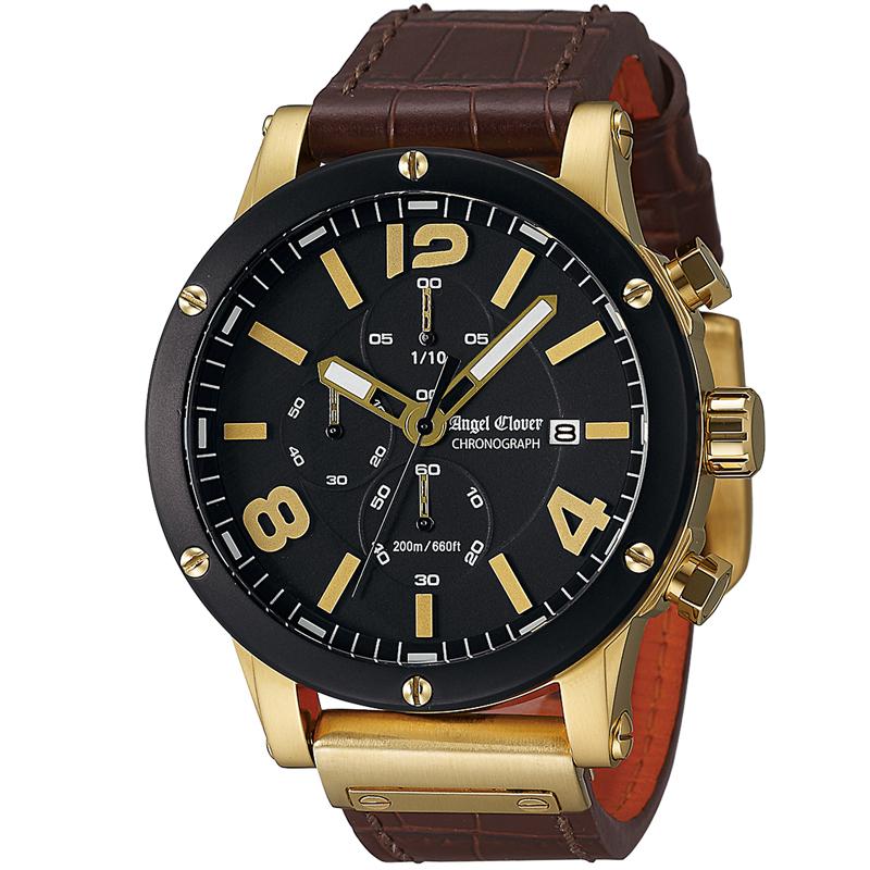 エンジェルクローバー AngelClover腕時計 メンズ エクスベンチャー ブラック EVC46YBK-BW