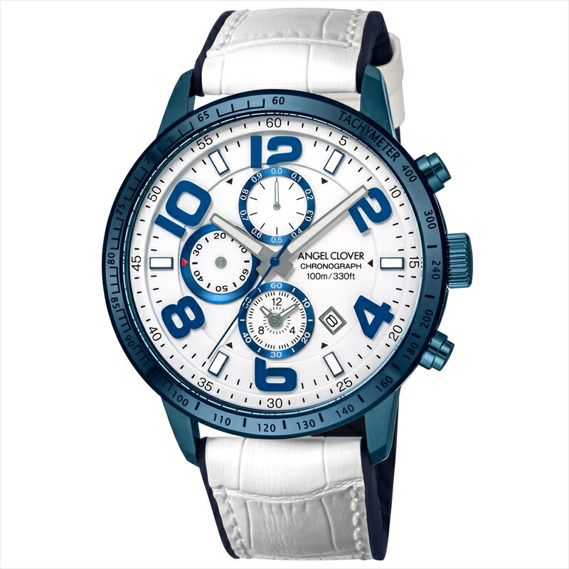 エンジェルクローバー Angel Clover メンズ腕時計 LU44BNV-WH ルーチェ ホワイト