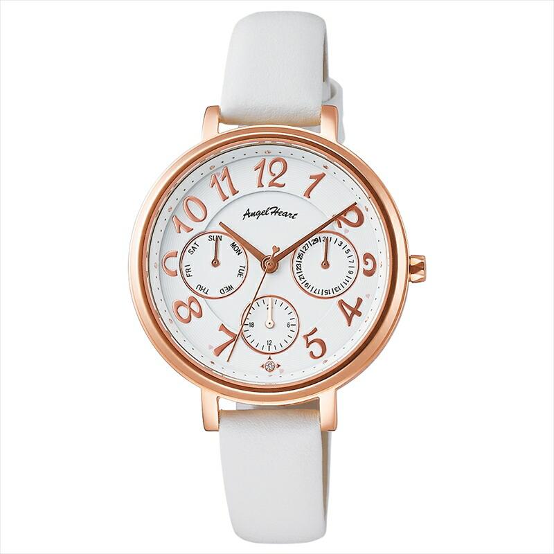 エンジェルハート Angel Heart レディース腕時計 ウィッシュスター WS33P-WH ホワイト