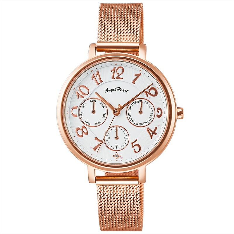 エンジェルハート Angel Heart レディース腕時計 ウィッシュスター WS33PG ホワイト