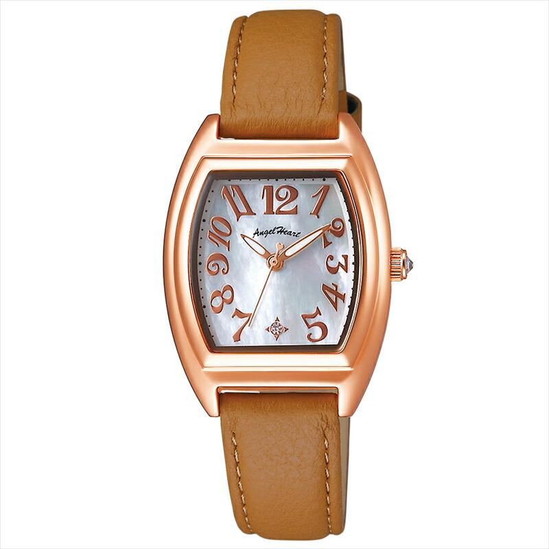 エンジェルハート Angel Heart レディース腕時計 ファーストスター FS26P-BR ホワイトパール