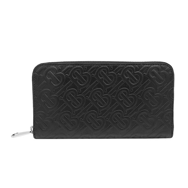 バーバリー BURBERRY ラウンド長財布 CONTINENTAL ZIPPER WALLET MONOGRAM 8017652 BLACK