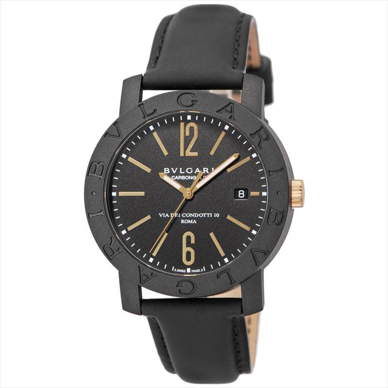ブルガリ BVLGARI メンズ腕時計 BBP40BCGLD カーボンゴールド ブラック