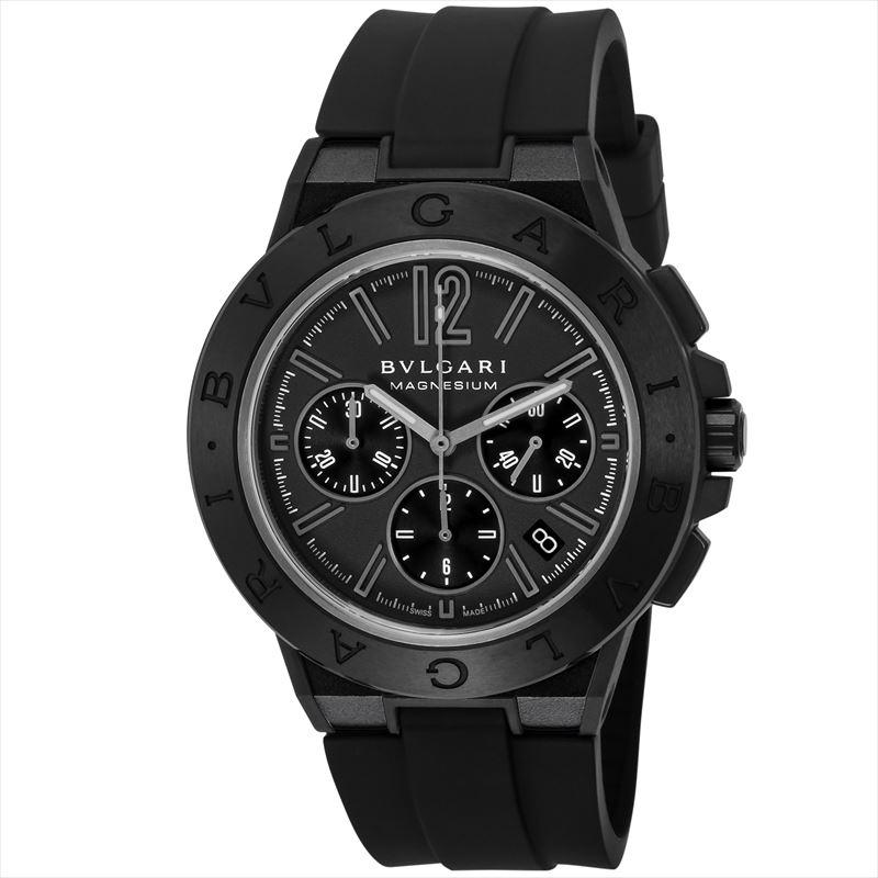 ブルガリ BVLGARI メンズ腕時計 ディアゴノマグネシウム DG42BSMCVDCH ブラック