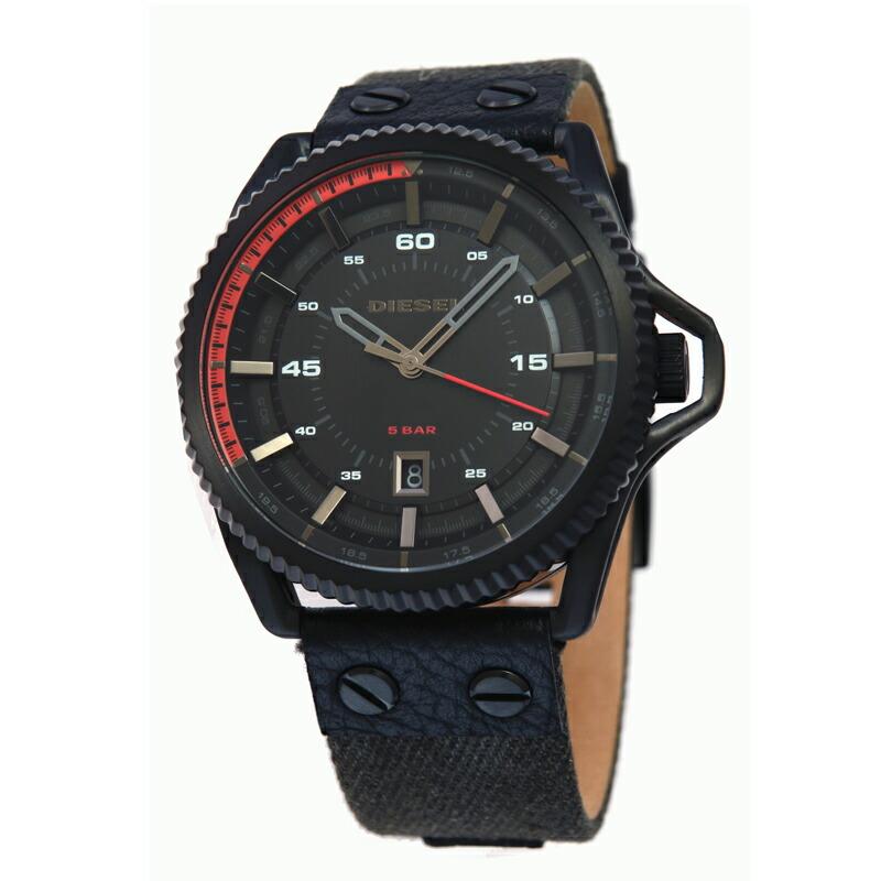 【アウトレット】 ディーゼル DIESEL メンズ腕時計 DZ1728 ブラック革