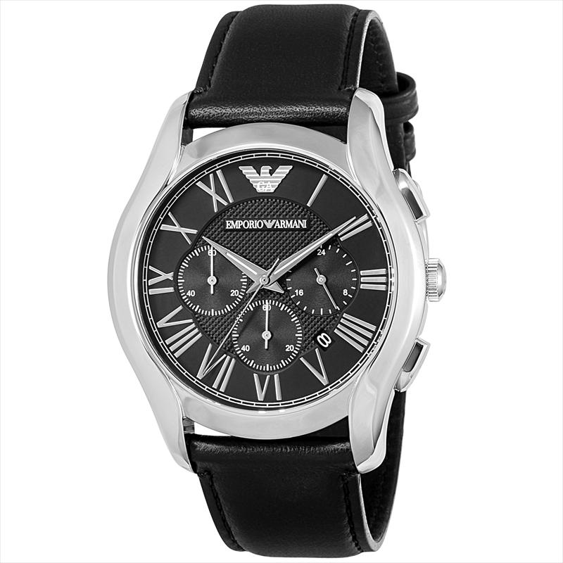 エンポリオ・アルマーニ EMPORIO ARMANI メンズ腕時計 VALELTEクラシック AR1700 ブラック