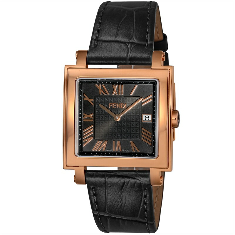 フェンディ FENDI メンズ腕時計 QUADOROMEN F604511011 ブラック
